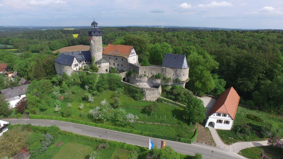 Bick auf die Burg Zwernitz in Sanspareil